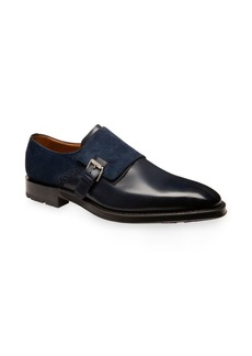 Bally Balbin Suede & Leather Goodyear Monk Strap Loafers