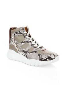 Bally Birko Snakeskin High-Top Sneakers