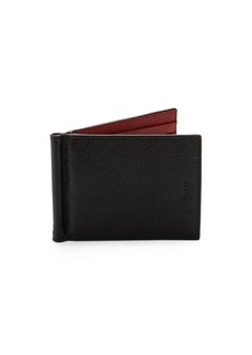 Bally Leather Money Clip Wallet