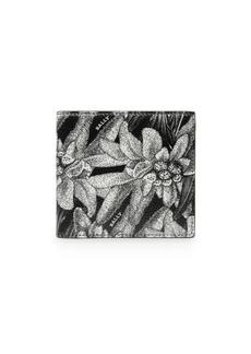 Bally Brasai Floral Leather Card Holder