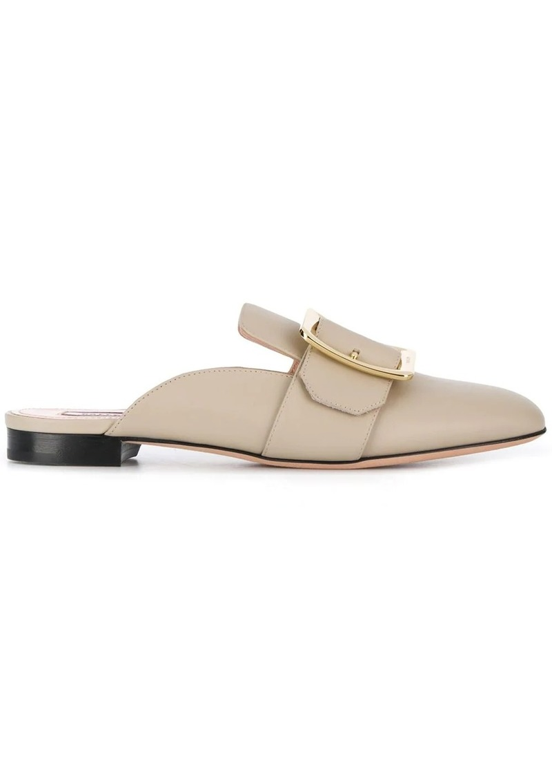 Bally buckled flat mules