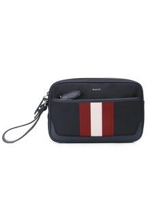 Bally Caliros stripe clutch bag