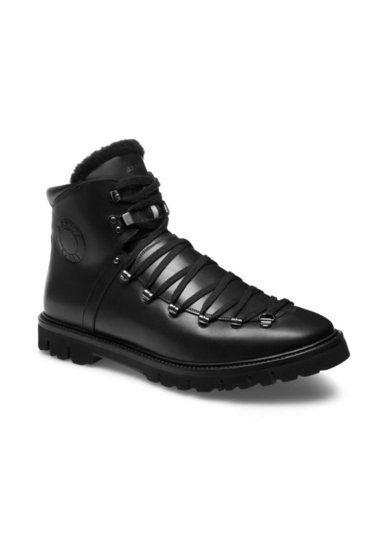 3a78b6b7cfc Chack Shearling-Trim Leather Hiking Boots
