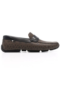 Bally chain logo-print leather loafers