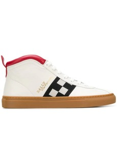 Bally checkered panel hi-top sneakers