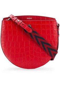 Bally croco embossed shoulder bag