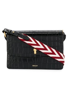 Bally crocodile-effect shoulder bag