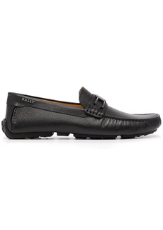 Bally engraved-logo leather loafers