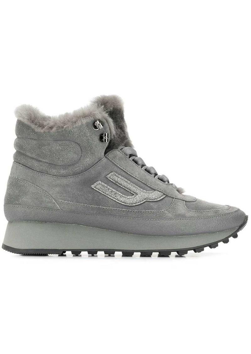 Bally Galenia fur trim hi-top sneakers