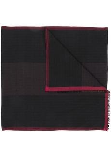 Bally jacquard red trim scarf