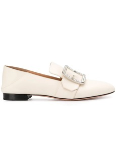 Bally Janelle rhinestone buckle loafers