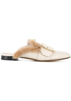 Bally Janesse fur trimmed slippers