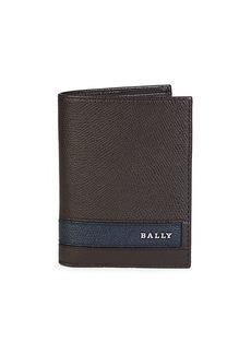 Bally Labie Pebbed Leather Bi-Fold Wallet