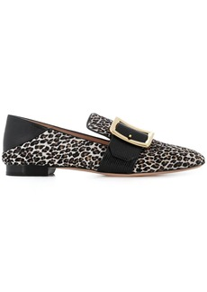 Bally leopard print loafers