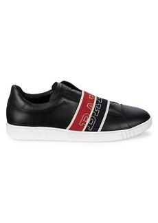 Bally Logo Leather Slip-On Sneakers