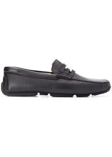 Bally logo plaque loafers