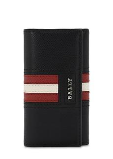 Bally Logo Stripe Leather Wallet W/ Key Hooks