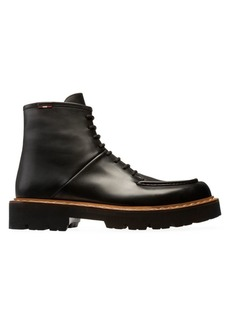 Bally Lybern Leather Combat Boots