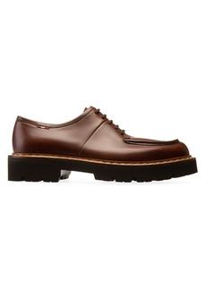 Bally Lyndon Leather Lace-Up Platform Loafers