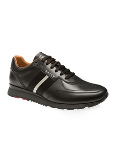 Bally Men's Aston Trainspotting Leather Running Sneakers