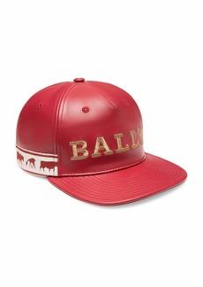 Bally Men's Logo-Embroidered Leather Baseball Hat