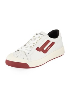 Bally Men's New Competition Retro Low-Top Sneakers  Red/White
