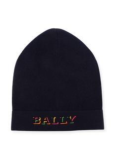 Bally Men's Rib-Knit Wool Beanie Hat
