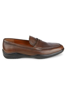 Bally Micson Textured Leather Loafers