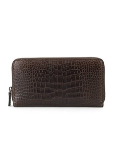 Bally Mievyn Embossed Leather Zip-Around Wallet