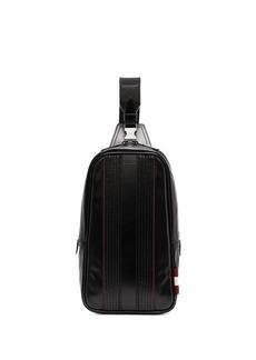Bally panelled leather messenger bag