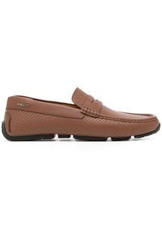 Bally woven-effect leather loafers