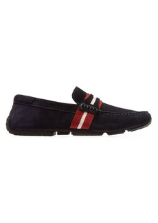 Bally Pilot Pietro Ball Stripe Driver Loafers
