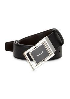 Bally Siamer Logo Buckle Leather Belt