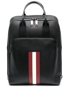 Bally signature stripe leather backpack