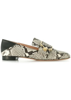 Bally snake-effect loafers