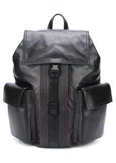 Bally stitch-trimmed backpack