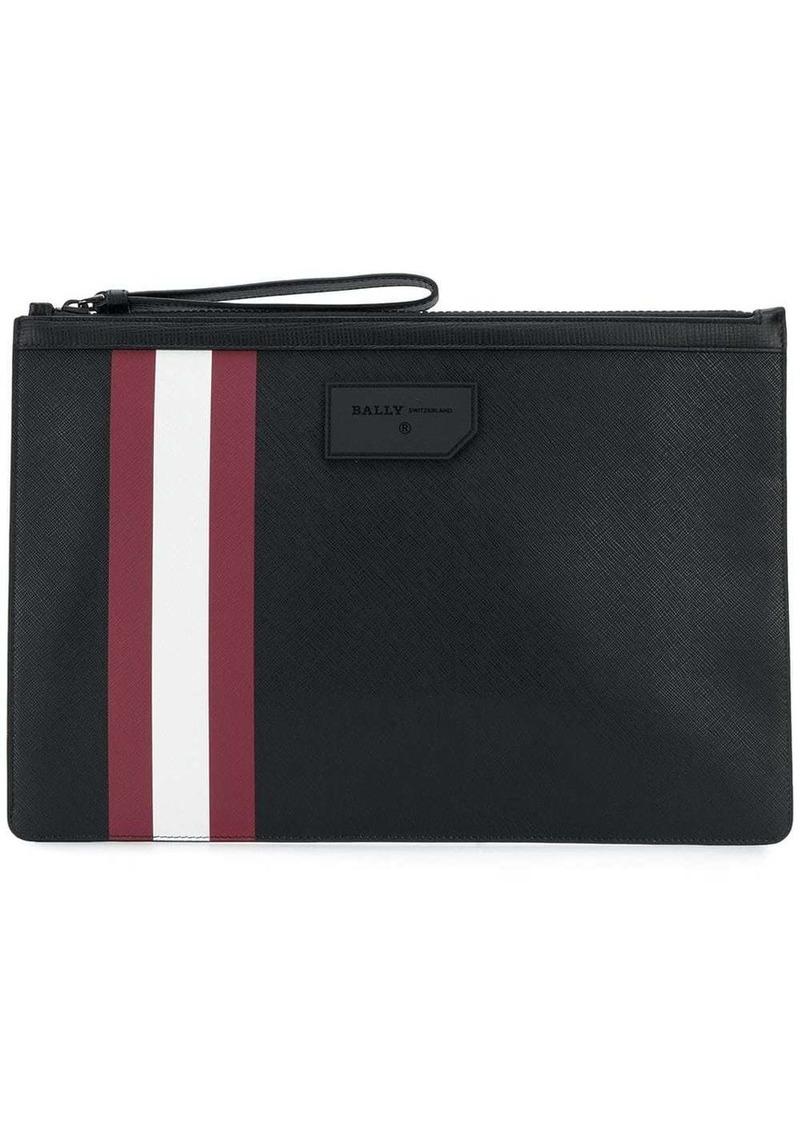 Bally stripe detail clutch bag