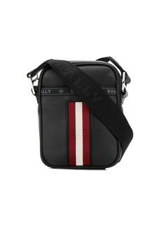 Bally stripe detail logo strap messenger bag
