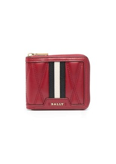 Bally striped band quilted wallet