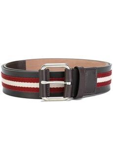 Bally striped buckle belt