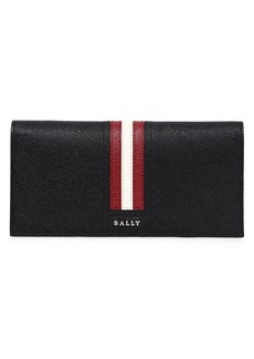 Bally Striped Saffiano Leather Wallet