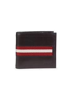 Bally Tollen Striped Leather Bi-Fold Wallet