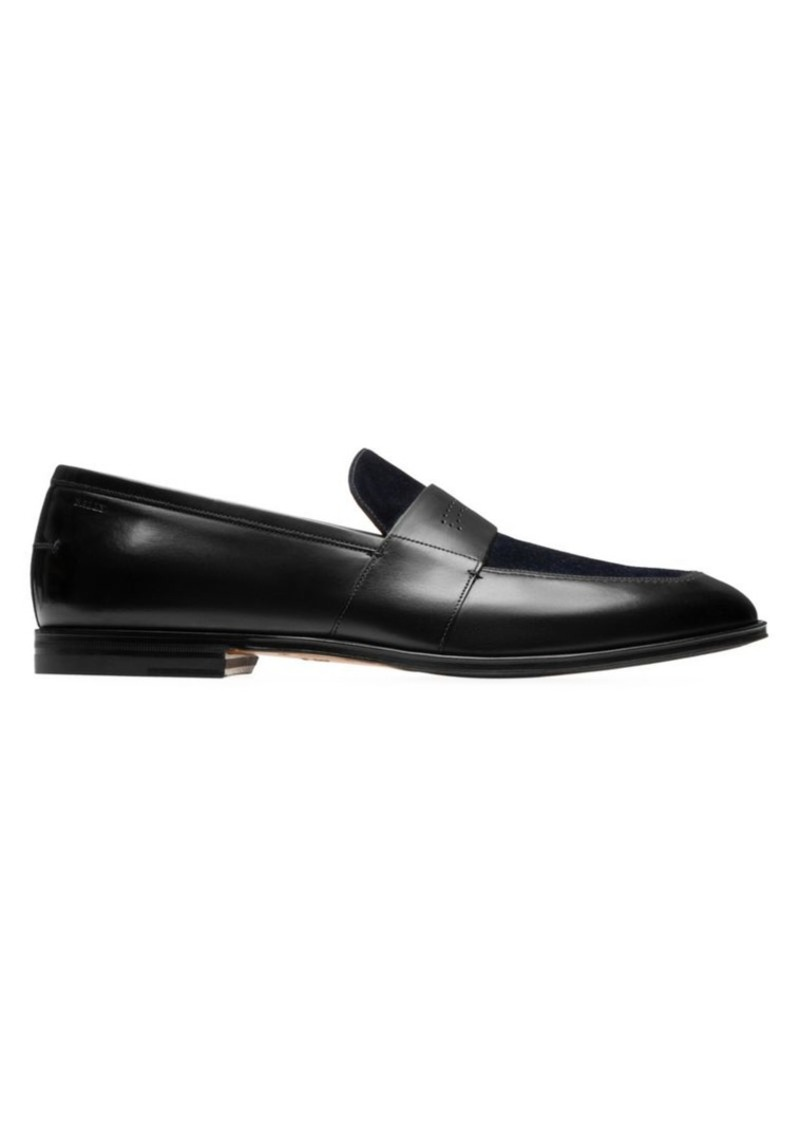 Bally Westminster Suede & Leather Loafers