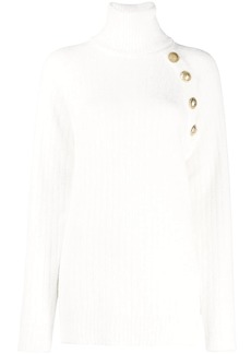 Balmain button-shoulder jumper