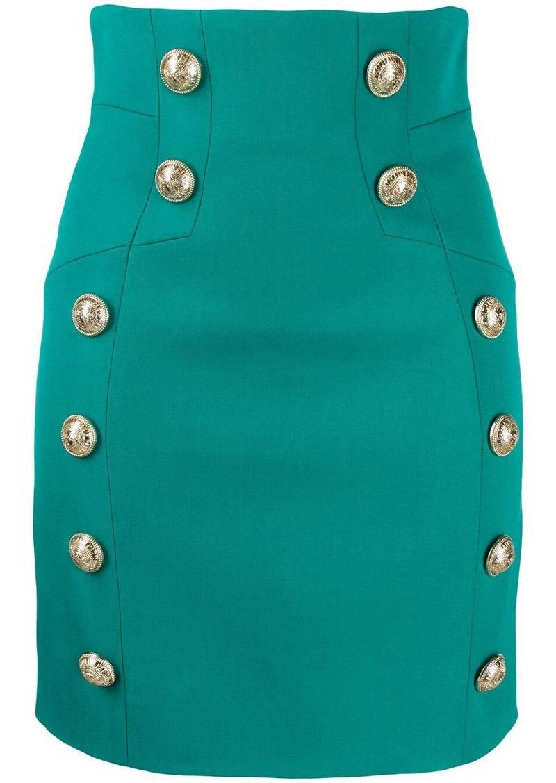 Balmain buttoned detailed mini skirt