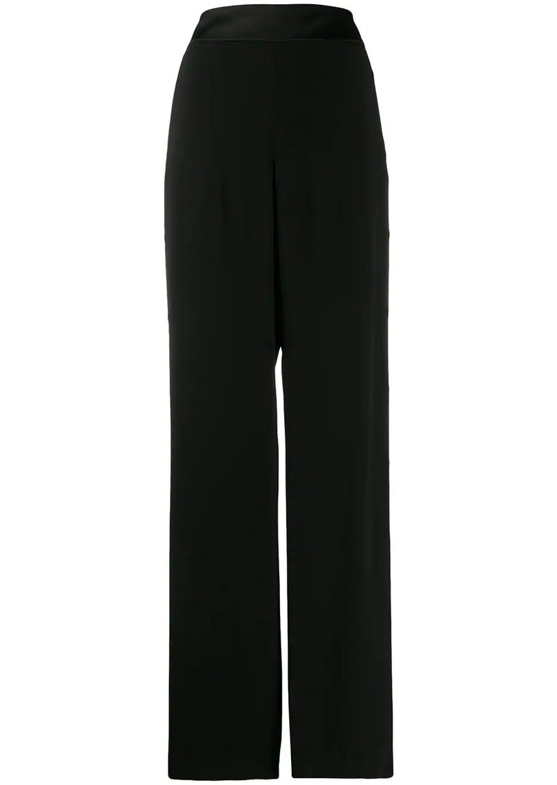 Balmain buttoned flared crepe trousers