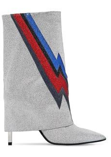 Balmain 110mm Babette Glittered Ankle Boots
