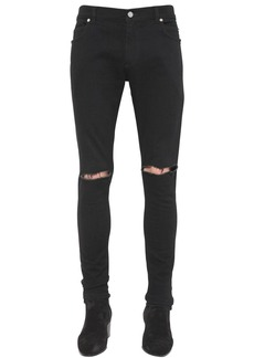 Balmain 14cm Ultra Skinny Cotton Denim Jeans