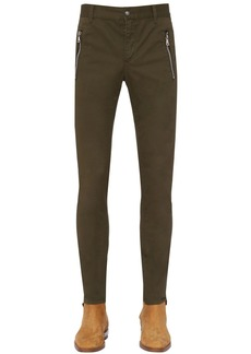 Balmain 15cm Flocked Chino Cotton Canvas Pants