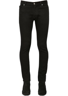 Balmain 15cm Slim Cotton Denim Jeans
